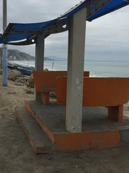 One of several bus stops - also used by locals as a sit down and catch-up with friends while enjoying the ocean breeze